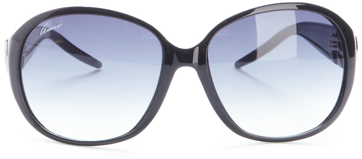 Round Frame Black Gucci Sunglasses