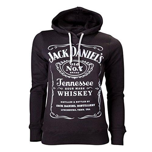 Jack Daniel's Label Felpa donna nero M