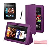 MINI KITTY- Purple Multifunctional Smart Stand Case Cover for the New Kindle Fire HD 7