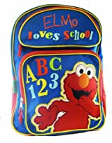I Love School Sesame Street Mini Backpack - Elmo Backpack (Full size 16in x 12in)