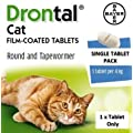 Single Drontal Cat Worming Tablet (1 x Tablet only)