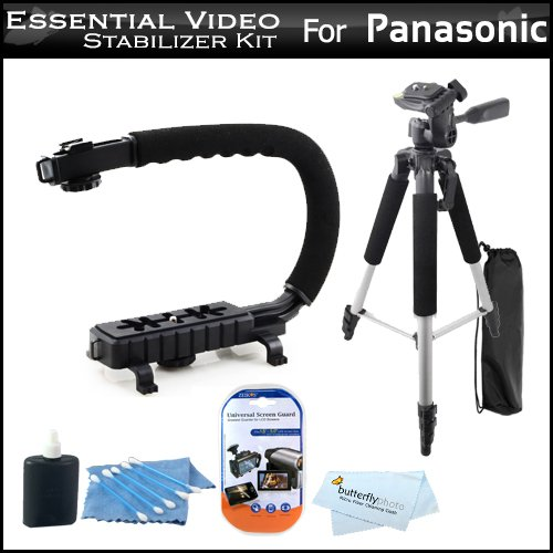 Buy  Essential Video Stabilizer Kit For Panasonic SDR-S70K Camcorder Includes AXIS-G Camcorder Action Stabilizing Handle + 57 Full Tripod w/Case + LCD Screen Protectors + 3pc Cleaning KIt + MicroFiber Cloth