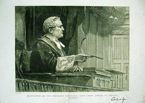 イギリス主裁判長 Coleridge 肖像画の主