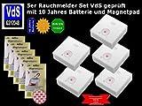 JME GS505 5er Set Rauchmelder/ Brandmelder/ 10 Jahres Batter...