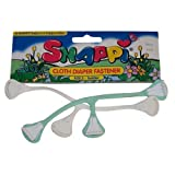 Snappi Cloth Diaper Fasteners - Toddler Size 2 - Pack of 2 (White, Mint Green)