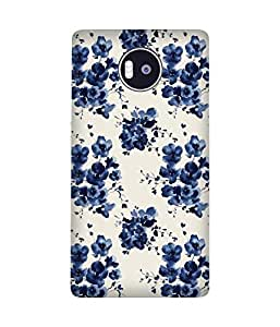 Blue Flower Pattern Microsoft Lumia 950 XL Case