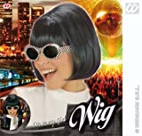 Black Bob Wig 60'S Party School Disco Fancy Dress