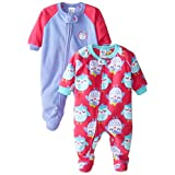 Gerber Baby-Girls Newborn 2 Pack Blanket Sleepers, Owl, 24 Months