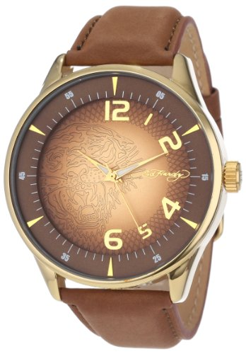Ed Hardy Men's CG-GD Cartography Quartz Analog Gold Tone Case Watch