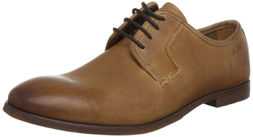 Clarks Euston Walk Derby Mens Brown Braun (Tobacco Leather) Size: 12 (46 EU)