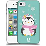 Head Case Designs Kawaii Christmas Penguin Soft Gel Case for Apple iPhone Phones