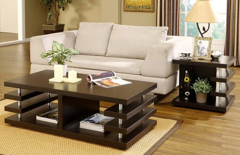 Architectural Inspired Living Room Table