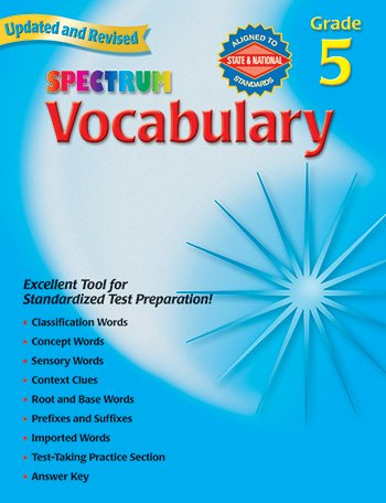 Spectrum Vocabulary Workbook, Grade 5 - 1