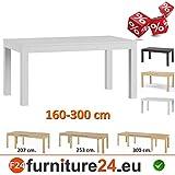 Tisch-Kchentisch-Esszimmertisch-Esstisch-WENUS-ausziehbar-300-cm-Wei-matt