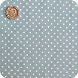 Pale Powder Blue 3mm Polka Dot Fabric 1 Metre 100 % Cotton Spotty.