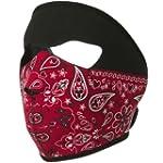 Neoprene Full Face Mask - Red Paisley