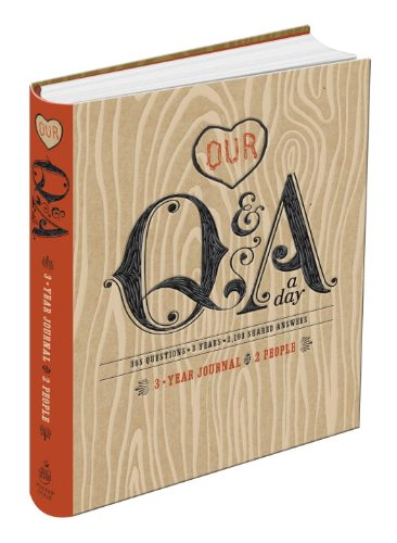 Our Q&A a Day: 3-Year Journal for 2 People Diary –  by Potter Style (Author)