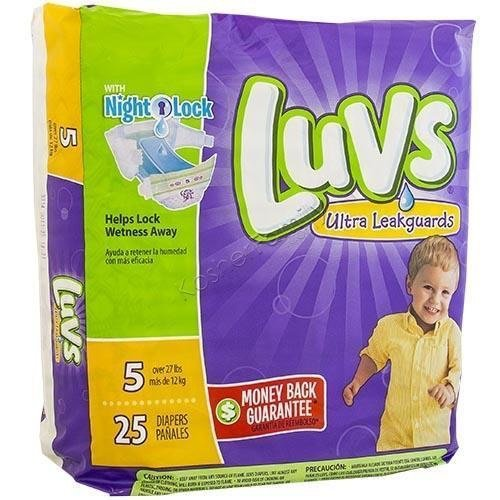 Luvs Super Absorbent Diapers with Nightlock Leakguards, Size 5, 25 Count