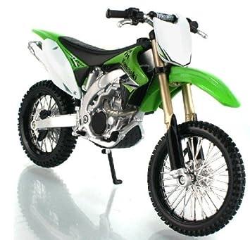 Kawasaki KX450F modele de moto en alliage jouets Vehicule Miniature Echelle 1/12