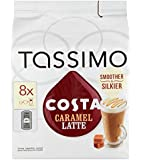 Tassimo Costa Caramel Latte 16 discs, 8 servings (Pack of 5, Total 80 discs, 40 servings)