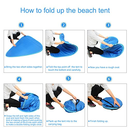 sc 1 st  C&stuffs & Michael Josh Portable and Foldable Pop-up Anti UV Nylon Beach Tent ...