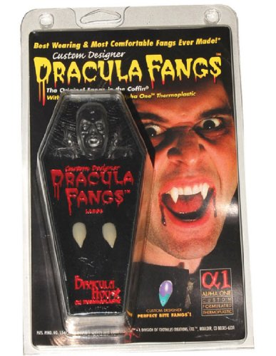 Fangs,Carded Vampire In Coffin