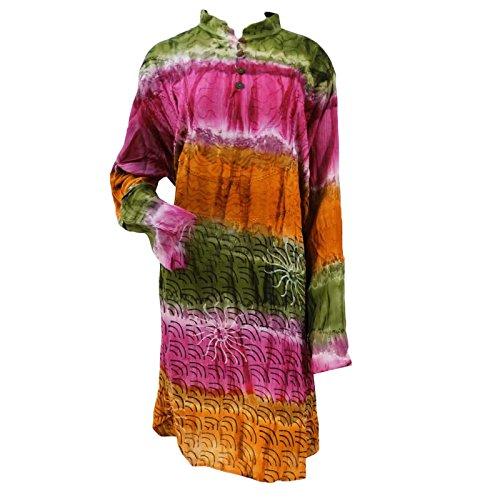Summer Wear Casual Dress Viscose Dress Multicolour Dress Indian Kurti front-329517