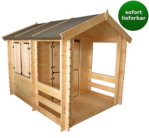 Spielhaus – 1,75 x 1,30 Meter aus 19mm Blockbohlen – Kinder Gartenhaus Kinderspielhaus Kinderhaus inkl. Fußboden und Dachpappe online bestellen