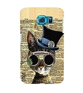 Omnam Owl Prited On Newspaper Designer Back Cover Case For Samsung Galaxy S7