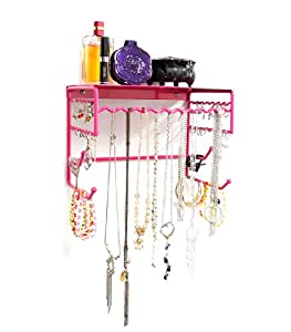 Organizer Shelf for Earrings, Bracelets, Necklaces, & Hair Accessories