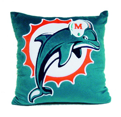 Dan River Nfl Raiders Novelty Pillow, Dolphins front-947349