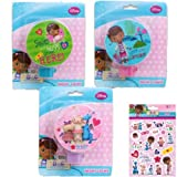 3-Piece Disney Jr. Doc McStuffins Night Light Gift Set for Kids - 3 Doc McStuffins Night Lights (3 Fun Designs) Plus 1 Pack of Doc McStuffins Stickers