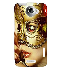 ColourCraft Mask Girl Design Back Case Cover for HTC ONE X