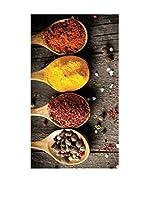 Huella deco Felpudo de Vinilo (Gris Oscuro/Multicolor)