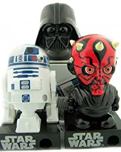 Star Wars Fan Gift Set - Darth Vader Darth Maul R2-D2 Gum Ball Machine Candy Dispensers