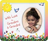 With Love to Grandma & Grandpa (flowers) Photo Magnet Frame