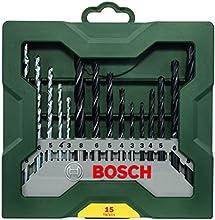 Comprar Bosch X-Line - Conjunto de 15 brocas para madera, piedra y metal