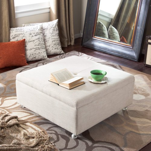 Popular Do you wish to get Corbett Linen Coffee Table Storage Ottoman Natural Fabric best price or searching information about this item