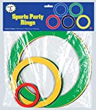 Sports Party Rings (asstd colors) Party Accessory  (1 count) (15/Pkg)