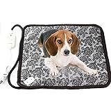 RIOGOO Pet Dog Cat Waterproof Electric Heating Mat Bed Warming Pad With Anti Bite Tube