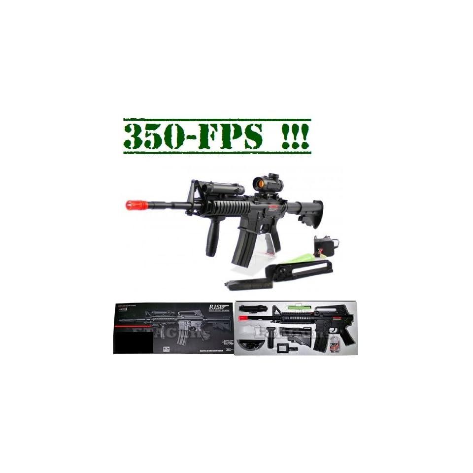 Navy Commando M 16 Full Auto AEG Airsoft Gun 350 FPS Airsoft Gun on