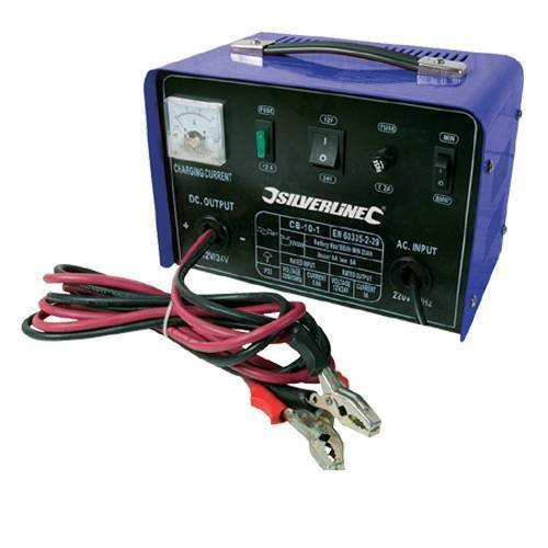 Silverline 377926 10 Amp Battery Charger
