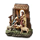 THE SAN FRANCISCO MUSIC BOX COMPANY Holy Family in Stable Window Figurine