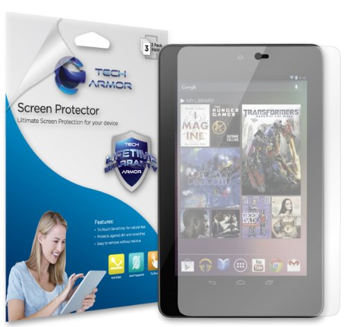 Tech Armor Anti-Glare & Anti-Fingerprint (Matte) Screen Protector with Lifetime Replacement Warranty for Google Nexus 7 Tablet [3-Pack]