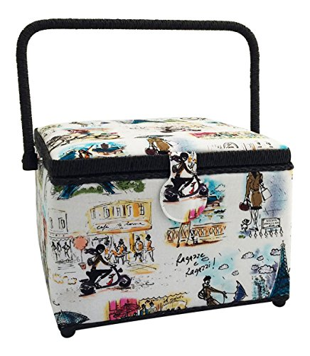 Check Out This Dritz St. Jane Sewing Basket Large Square (10.5 L x 10.5 W x 7.75 H); Parisian Sce...