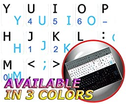SWEDISH/FINNISH - ENGLISH NOTEBOOK NON-TRANSPARENT KEYBOARD DECALS BLACK, WHITE OR SILVER BACKGROUND (White Background)