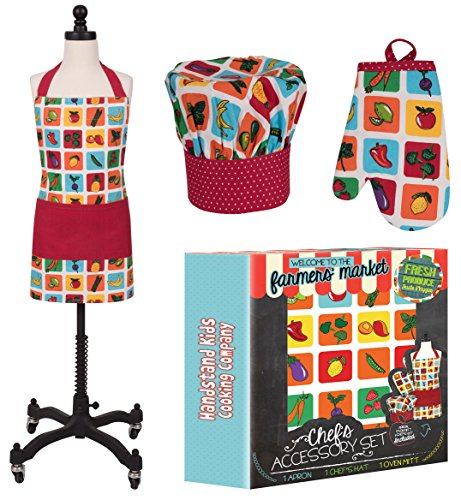 Handstand Kitchen Child's 'Farmers Market' Apron, Mitt and Chef's Hat Gift Set