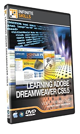 Beginners Dreamweaver CS5.5 Training DVD - Over 9 Hours of Training