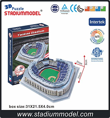 MajorLeagueBaseball MLB New York Yankees NYY Home Yankee Stadium 3D Puzzle Model Paper by Clever&Happy (Yankee Stadium Model compare prices)