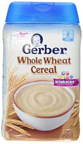 Gerber Baby Cereal, Whole Wheat, 8 Ounce - 1